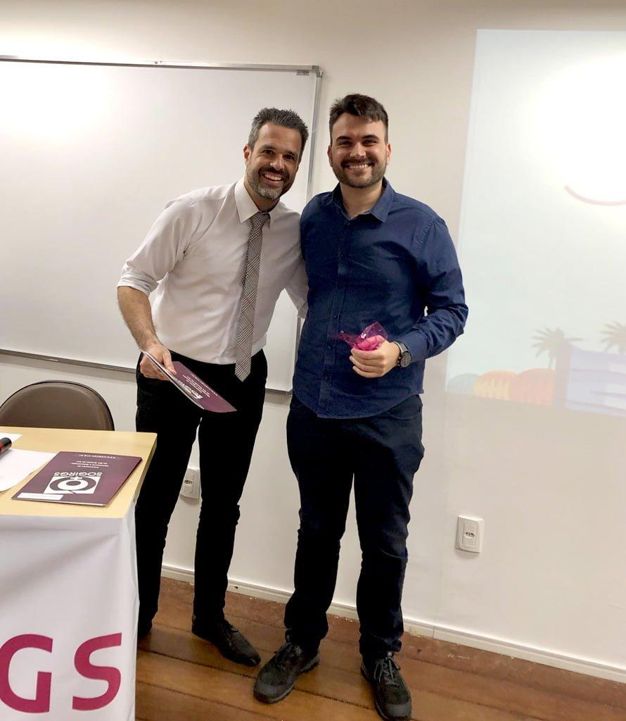 """Dr. Edson da Cunha Filho e Dr. Charles Schneider Borges (Premiado """"Teguinho 2019"""")"""