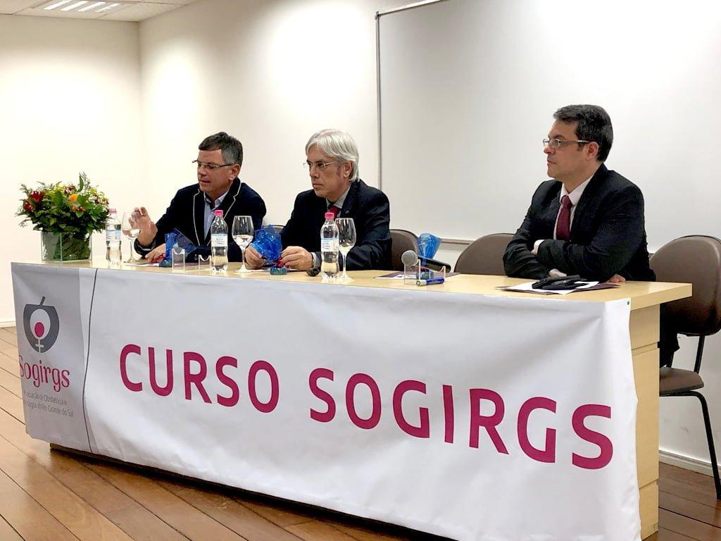 Dr. Pedro Zanella, Dr. José Geraldo Ramos e Dr. Rodrigo Bernardes Cardoso