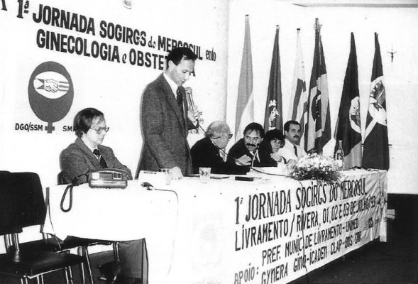 Mesa de Abertura da 1ª Jornada Sogirgs do Mercosul em 1993